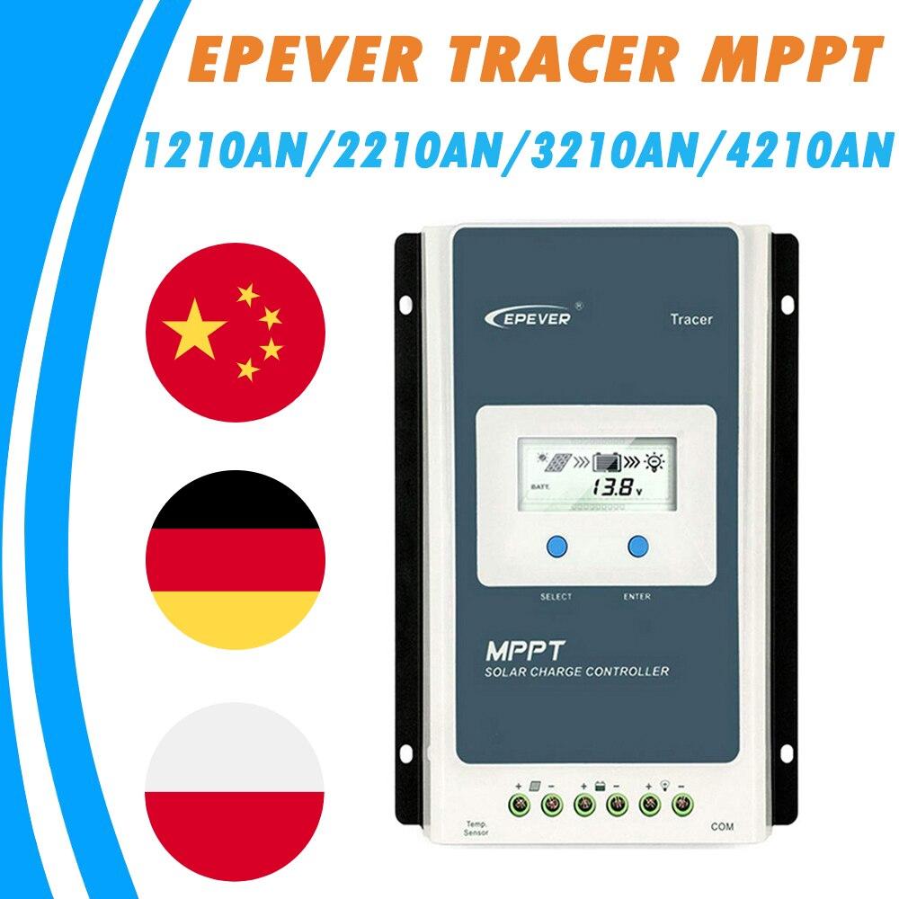 EPever Solar Charge Controller 10A 20A 30A 40A Blacklight LCD Solar Regulator 12V 24V Auto Tracer1210AN 2210AN 3210AN 4210AN TOP